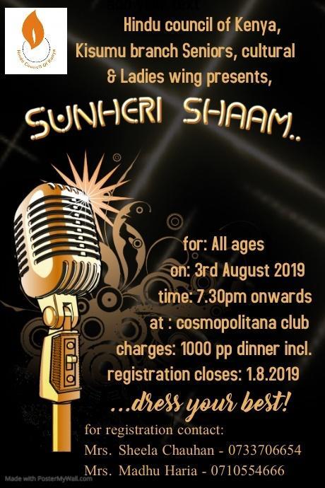 Sunheri Shaam HCK Kisumu